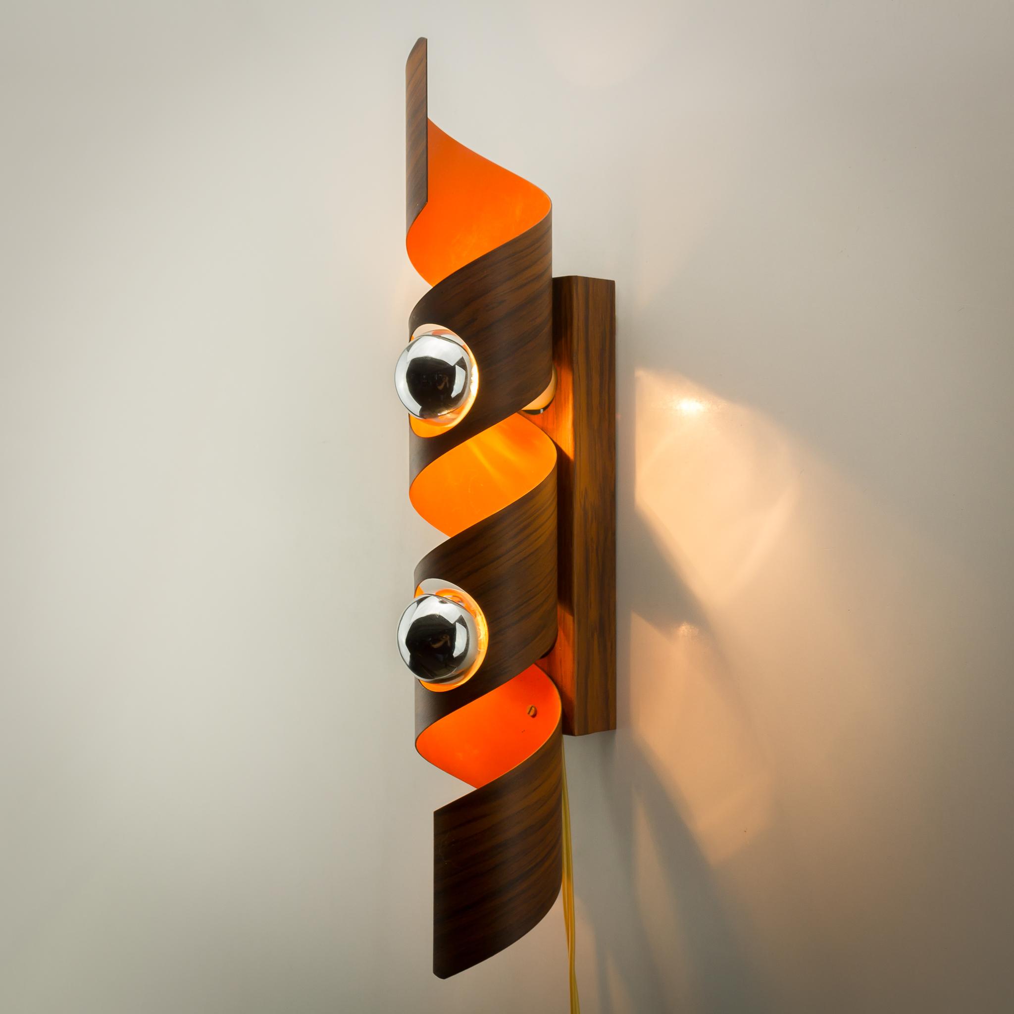 60 s raak spiraal wandlamp barbmama for Design wandlamp
