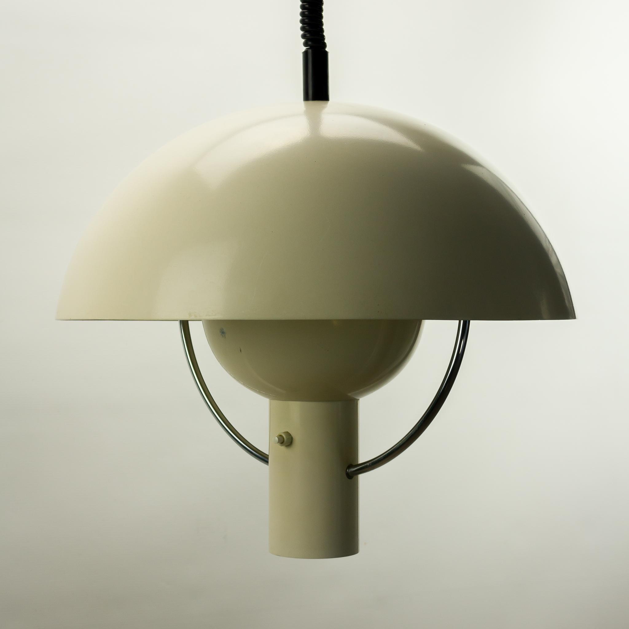 60 s dijkstra lampen metalen paddestoel hanglamp barbmama. Black Bedroom Furniture Sets. Home Design Ideas