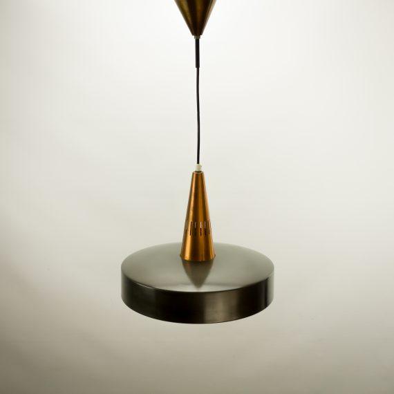60 s philips metalen design hanglamp koper zwart barbmama for Koper design