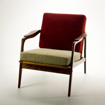 _MG_9028 57250400S 60's Gelderland teak fauteuil Berber stof Design Vintage Retro Barbmama