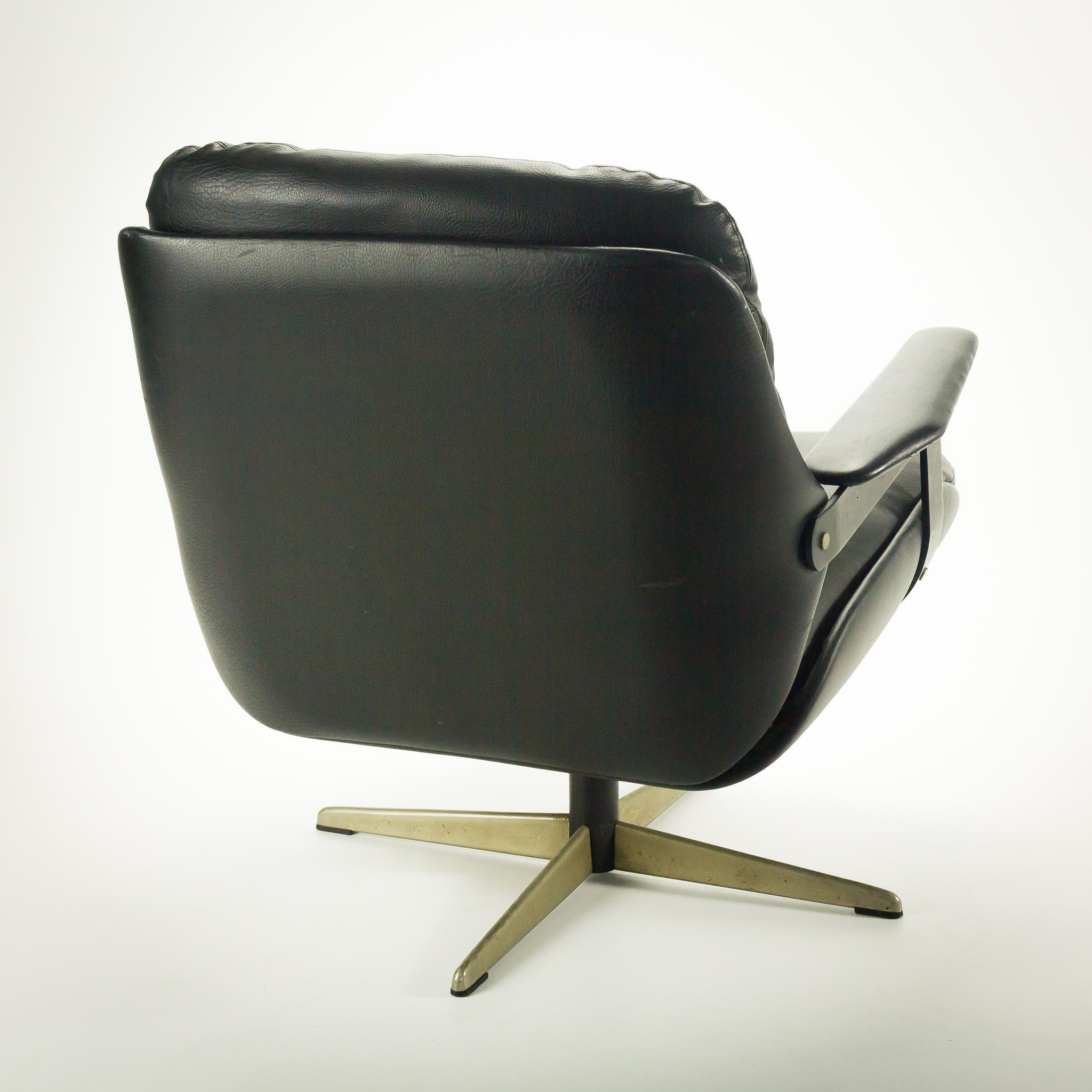 70 s eames stijl skai draai fauteuil set 2 barbmama for Fauteuil bois eames