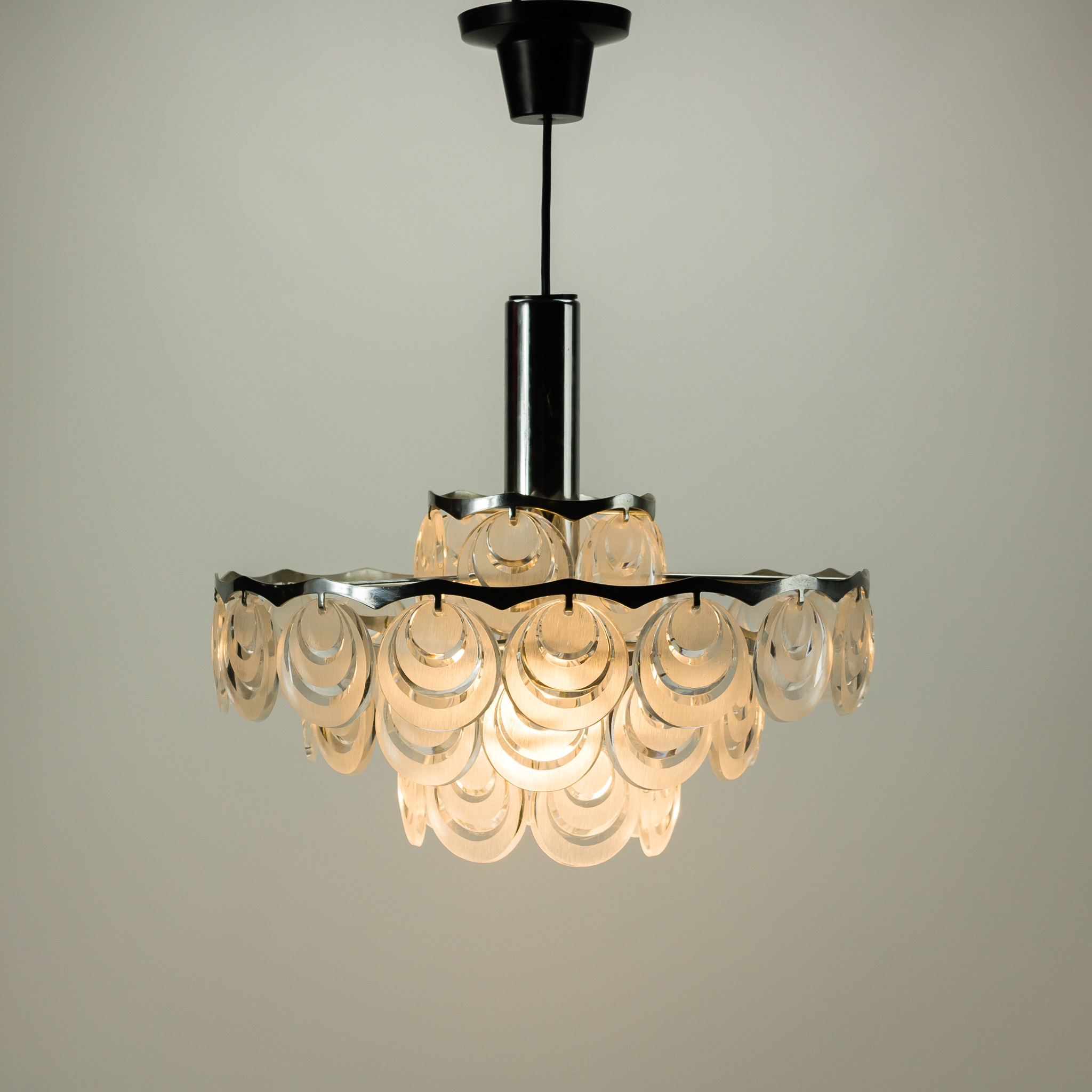 Gallery of finest mg l us design hanglamp met hangers for Hangelampe vintage