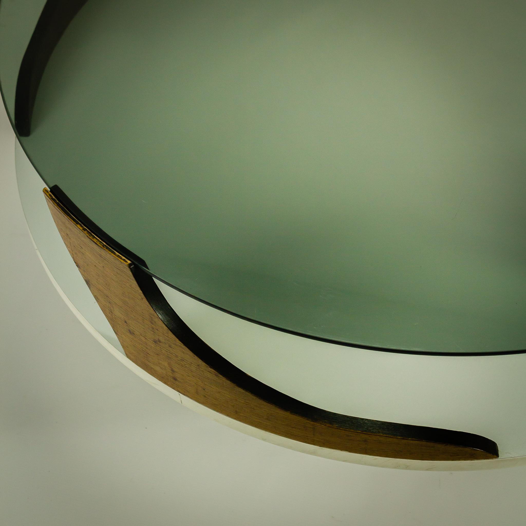 Witte Salon Tafel Met Glas.70 S Space Age Salontafel Wenge Wit Glas Barbmama