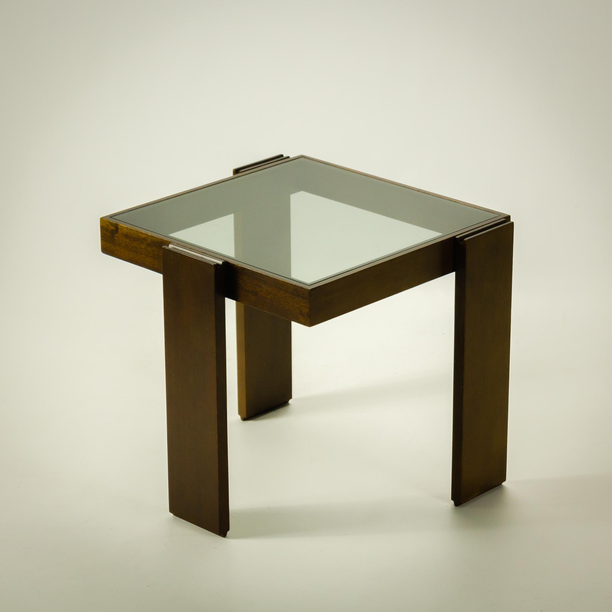 Jaren 80 Design Porada Arredi Bijzettafel Weng Glas