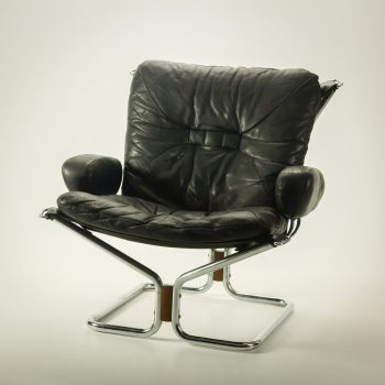 _MG_1248 54352600S 70's Ingmar Relling Wing Chair leren fauteuil Design Vintage Retro Barbmama