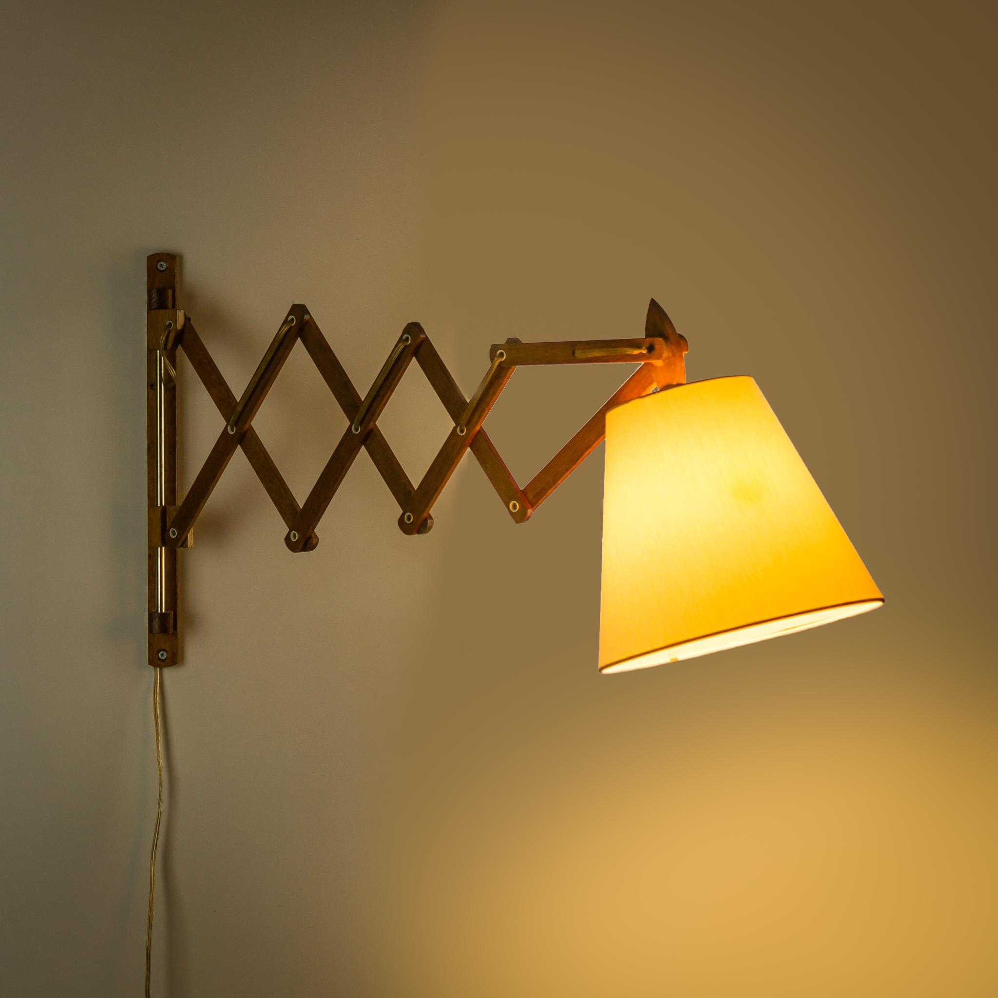 Geliefde 70's teak schaar wandlamp | BarbMama AC39
