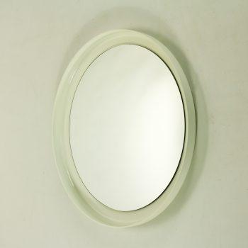 _MG_2286 93060200O 70's wandspiegel rond wit kunststof frame- Design Vintage Retro Barbmama