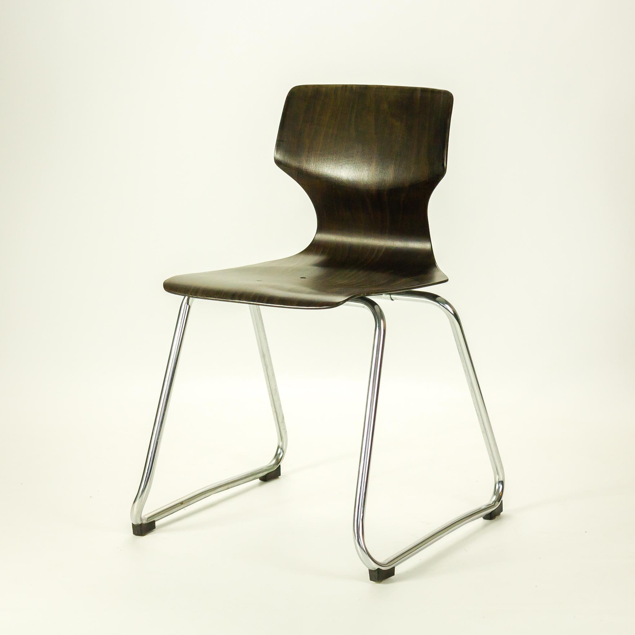 60's Flototto Pagholz stapel stoel set6