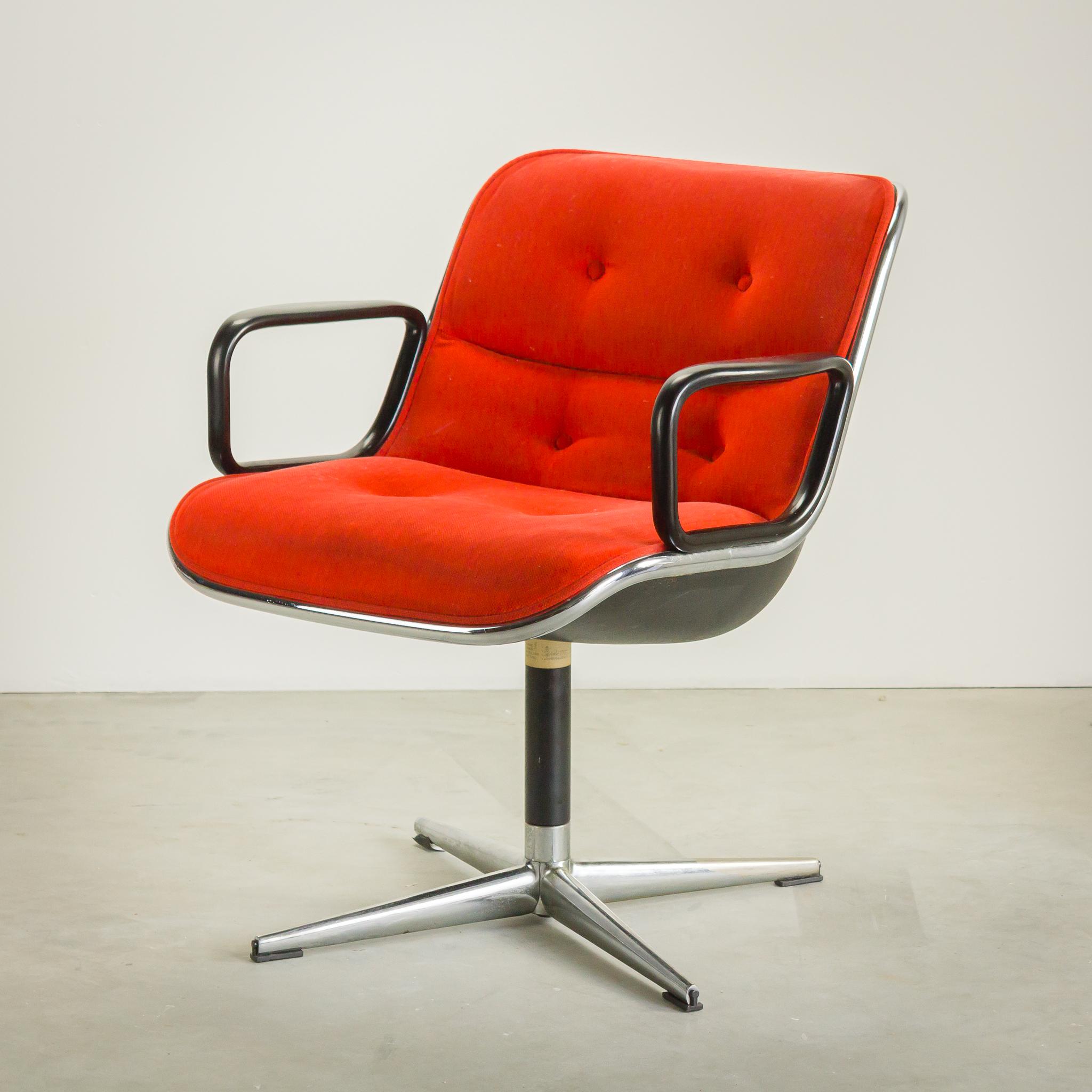 60 u2019s Knoll Executive bureaustoel by Charles Pollock   BarbMama