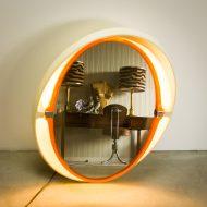 _MG_2987 07061400O Space-Age Allibert A136 wand spiegel met licht Design Vintage Retro Barbmama