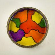 _MG_302707062000O keramiek handgeschilderde schaal, kunst Design Vintage Retro Barbmama