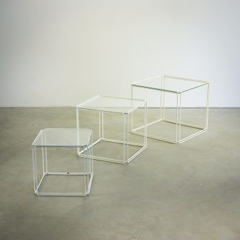 _MG_4012 21160430T 60's Max Sauze 'Isocele' nesting tables set-3 Design Vintage Retro Barbmama