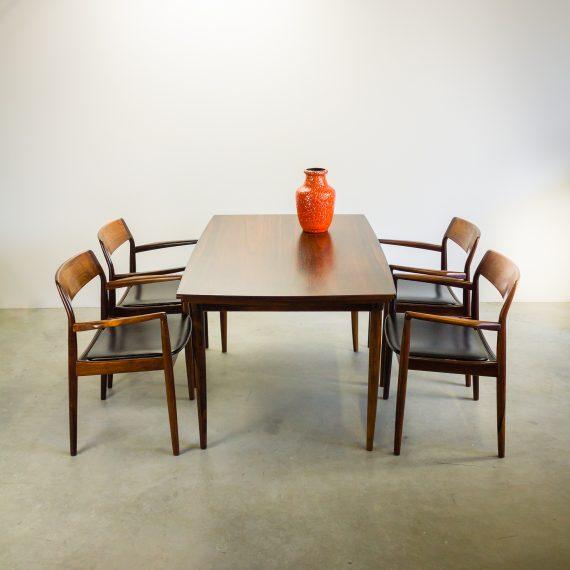 60 s deens design eetkamer set met 4 stoelen barbmama - Design eetkamer ...