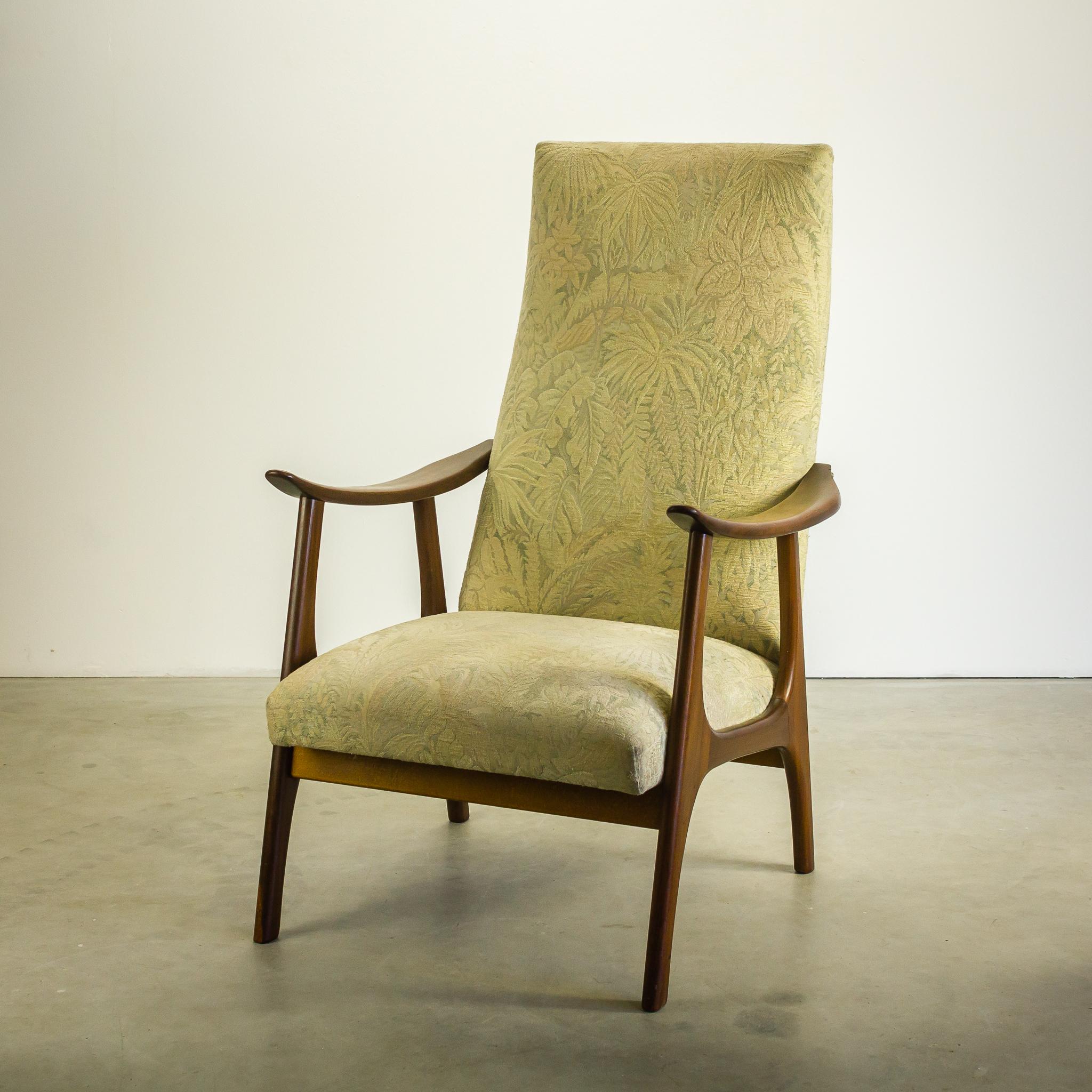 60 s webe teeffelen stijl teak fauteuil barbmama. Black Bedroom Furniture Sets. Home Design Ideas