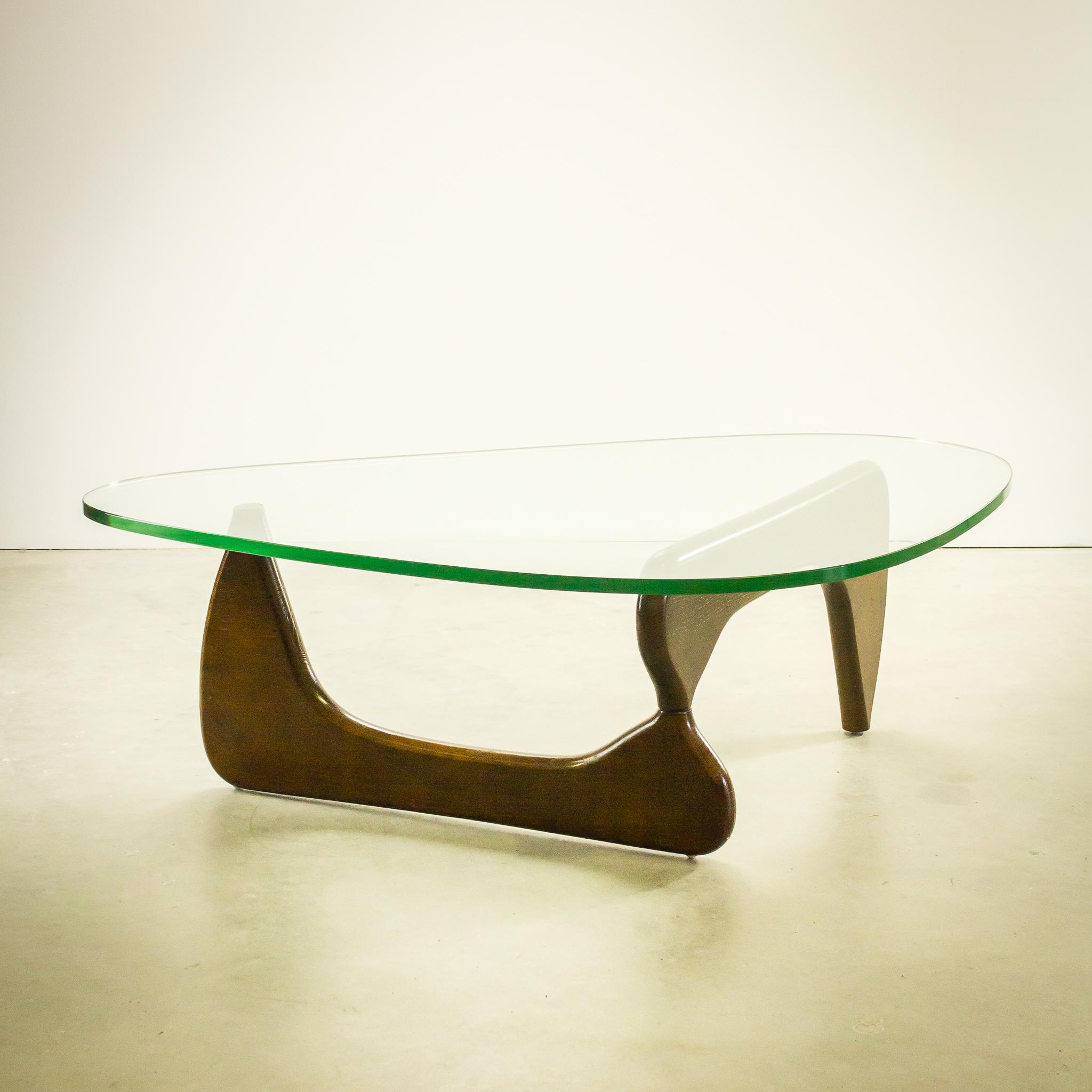 60 s Vintage teak coffee table glazen blad