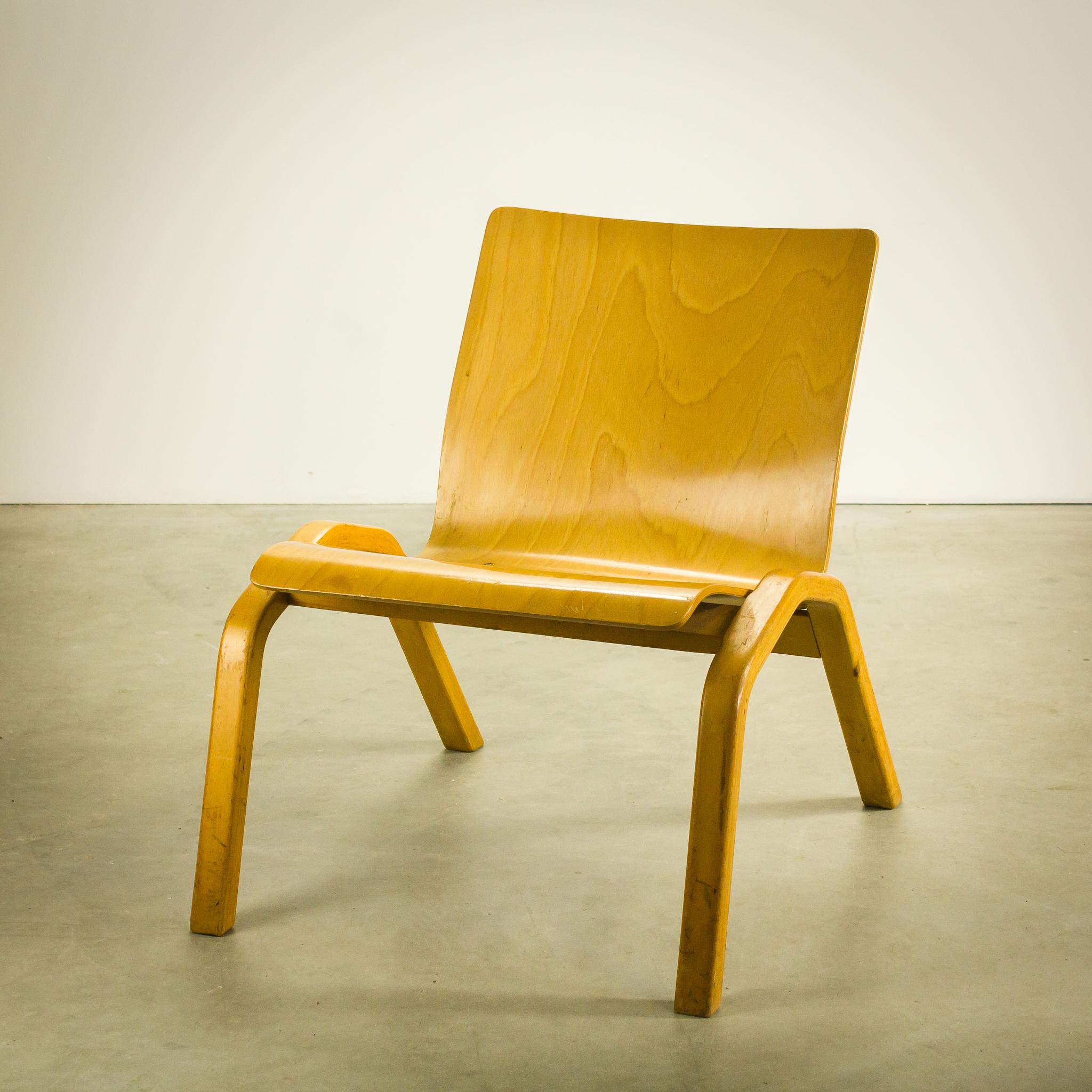 Wonderlijk 70's Deens design plywood fauteuil set/2   BarbMama HD-69