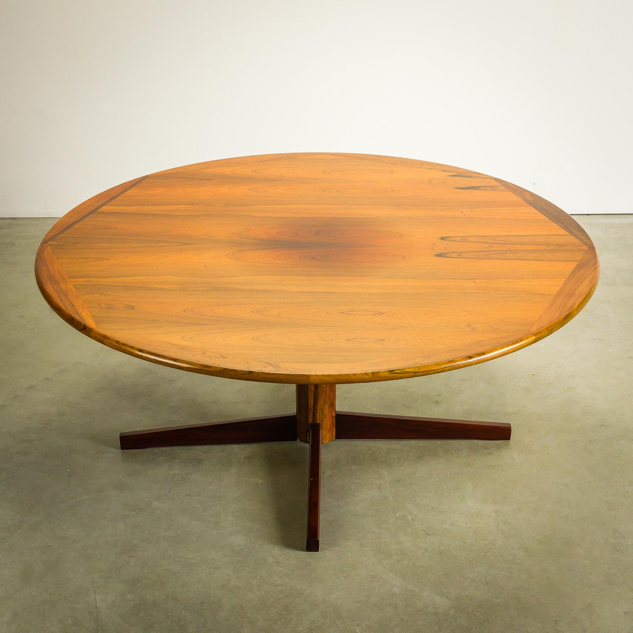 60 u2019s massief Palissander salontafel rond   BarbMama
