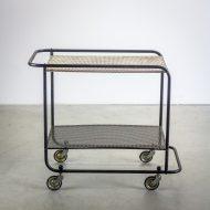_MG_5695 88160300T 50's Pilastro serveerwagen metaal zwart – wit Design Vintage Retro Barbmama