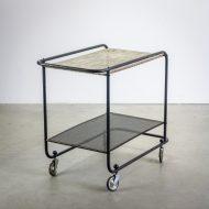 _MG_5696 88160300T 50's Pilastro serveerwagen metaal zwart – wit Design Vintage Retro Barbmama
