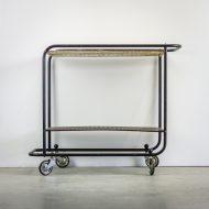 _MG_5700 88160300T 50's Pilastro serveerwagen metaal zwart – wit Design Vintage Retro Barbmama