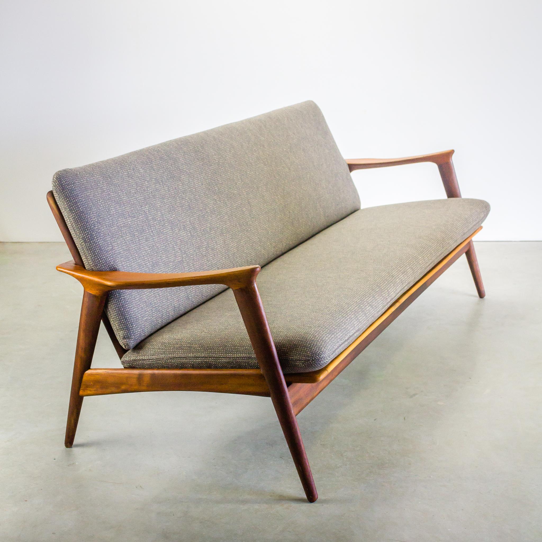 60 s scandinavisch design teak 3 zits sofa barbmama