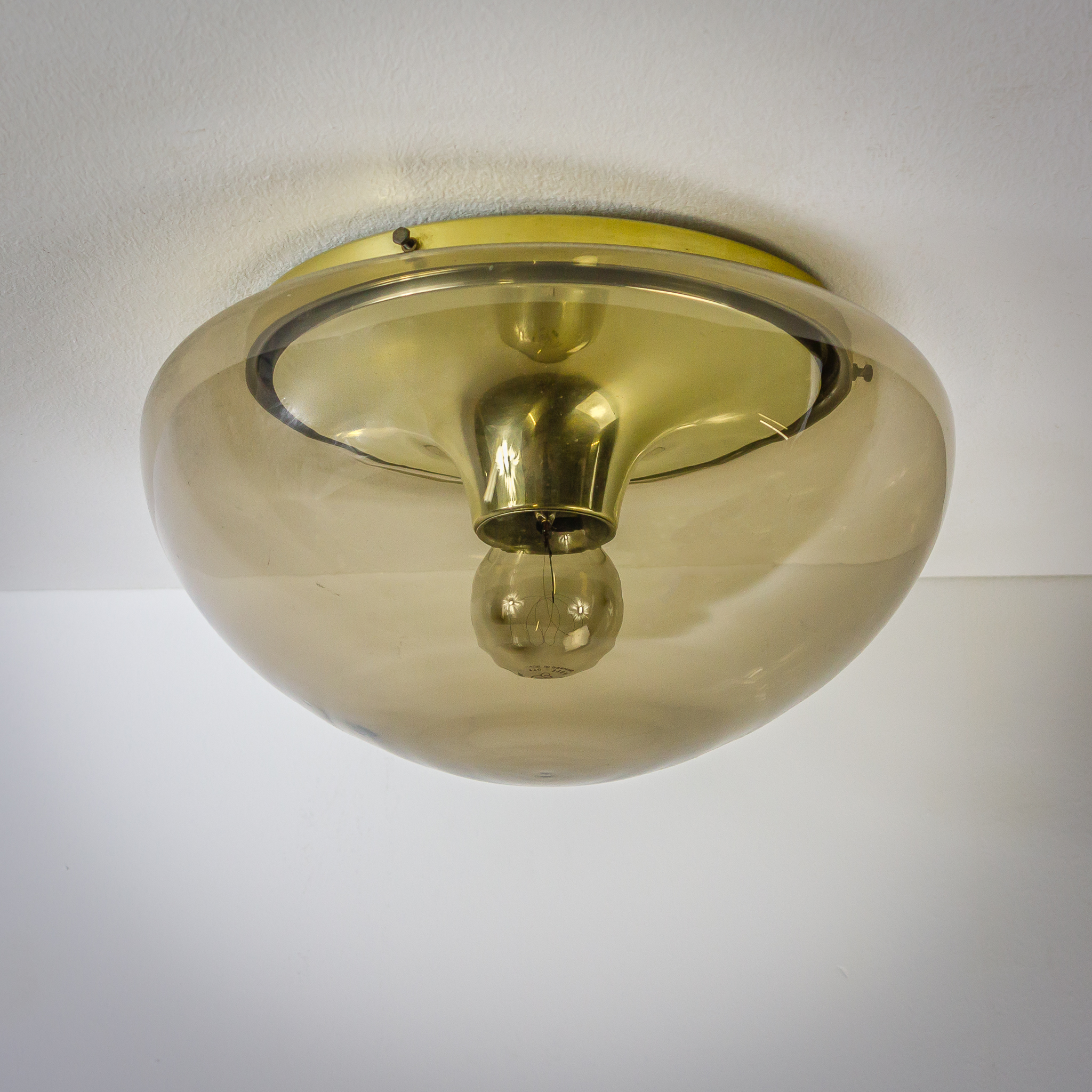 60 S Raak Plafonniere Wandlamp Rookglas Barbmama
