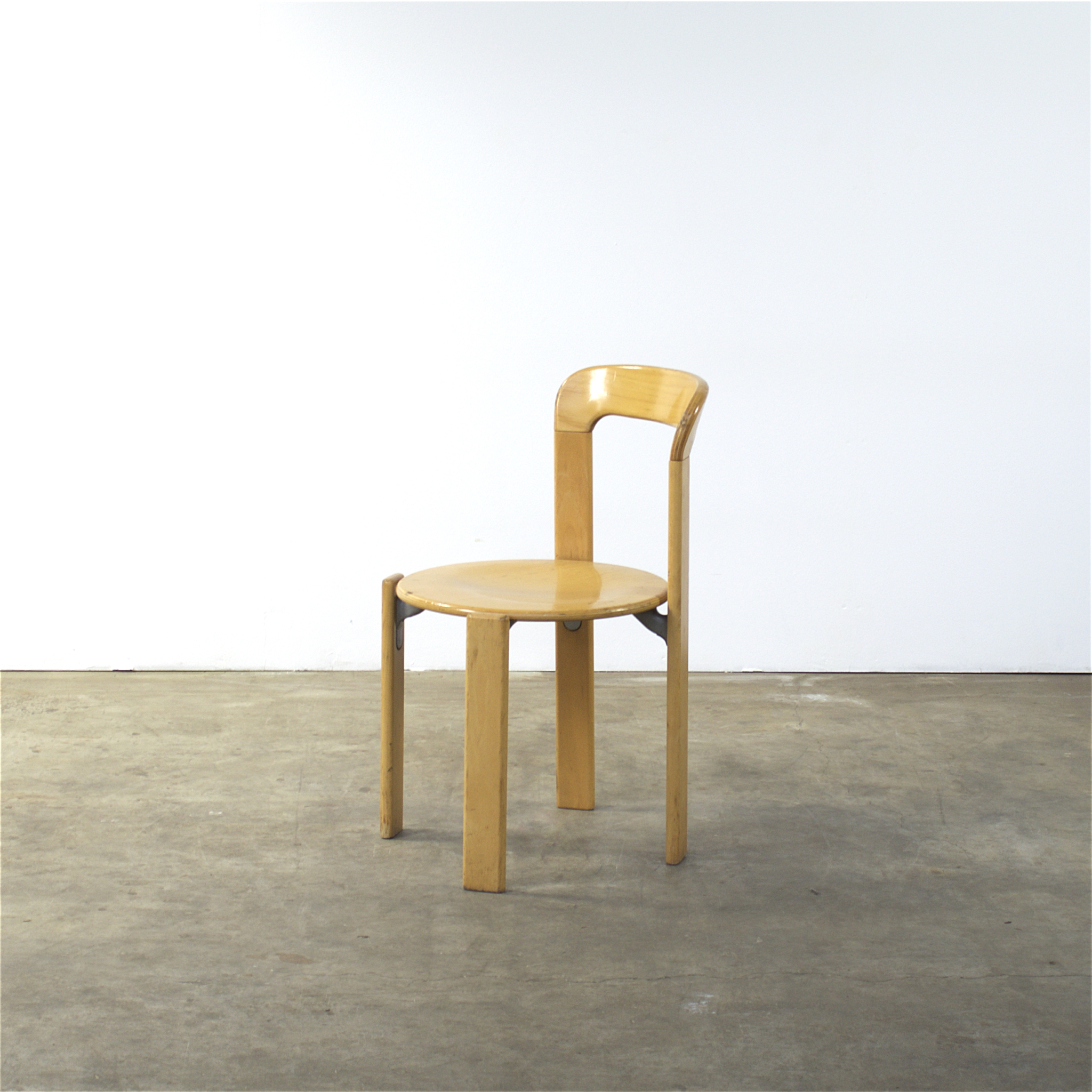 70 s Rey 33 dinner chair by Bruno Rey for Dietiker set 7