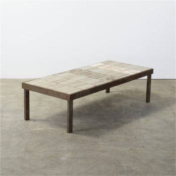 roger capron coffee table handcrafted salontafel art