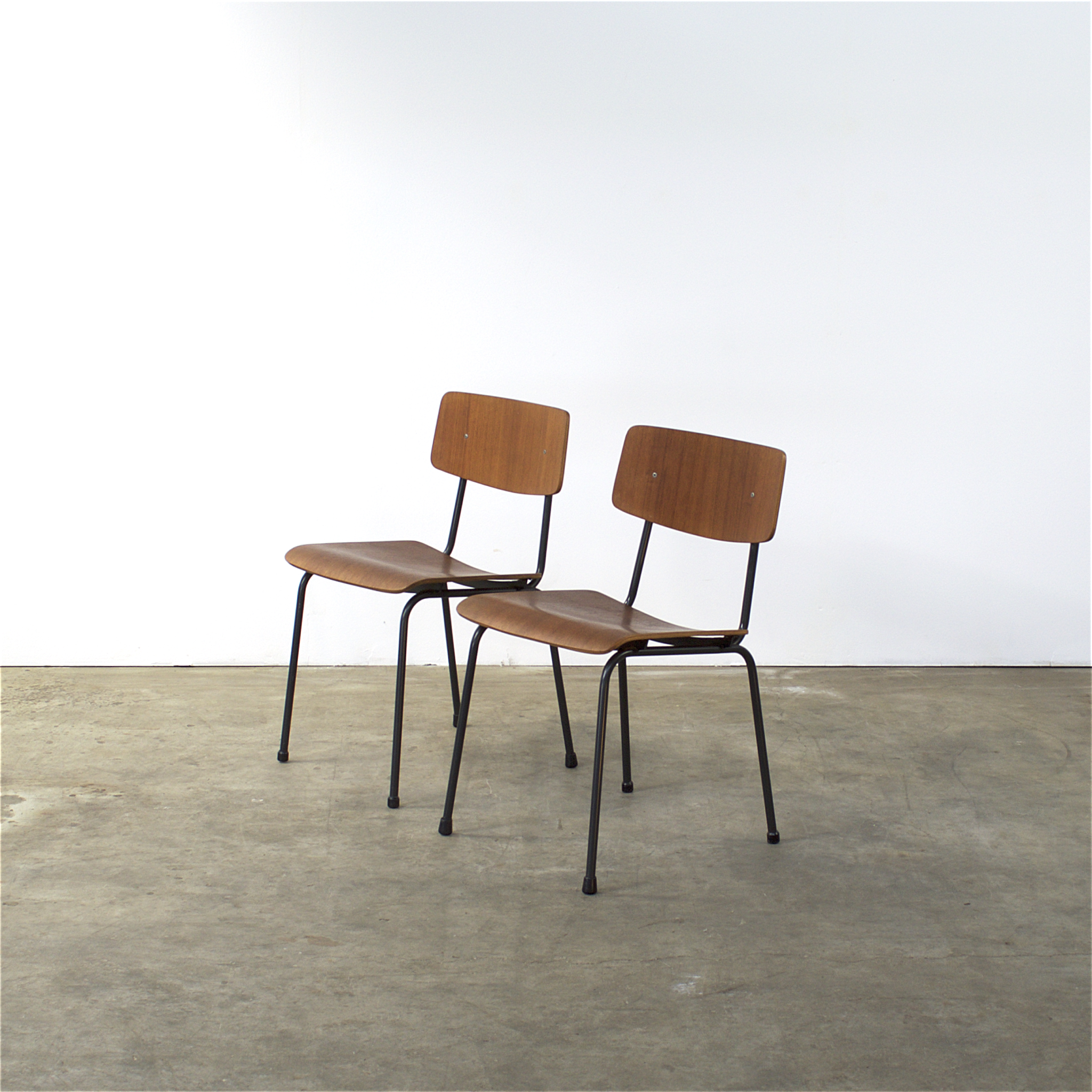 70 s Rietveld style office chairs set 2