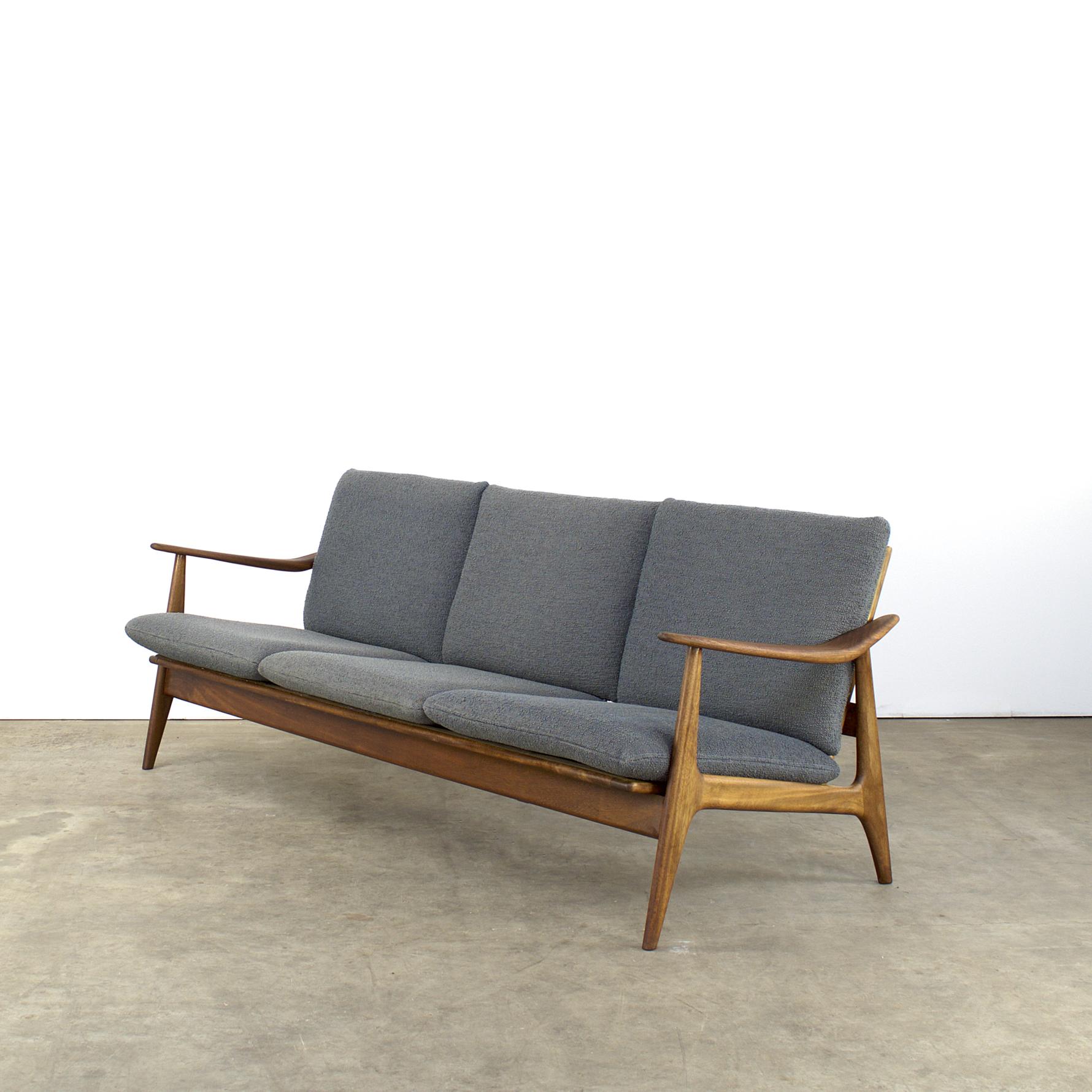 Midcentury teak sofa couch