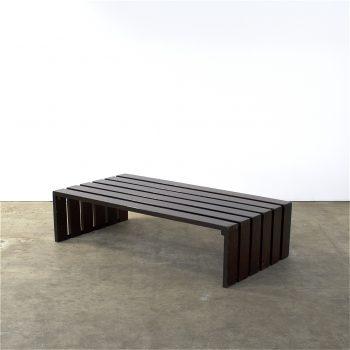 martin visser, style, slatted bench, lattenbank, museum bank