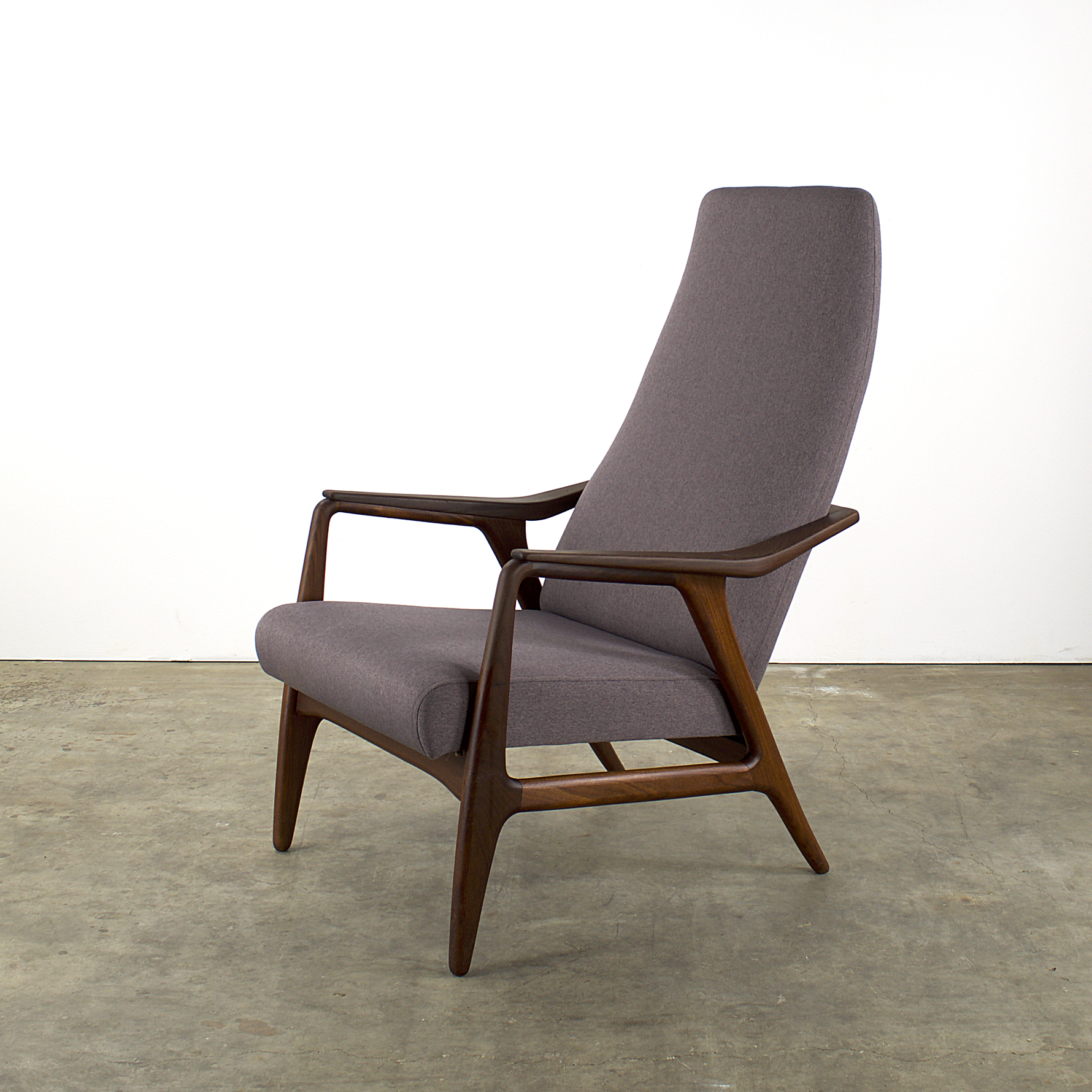 Midcentury teak easy chair fauteuil reupholstered barbmama for Lounge chair kopie
