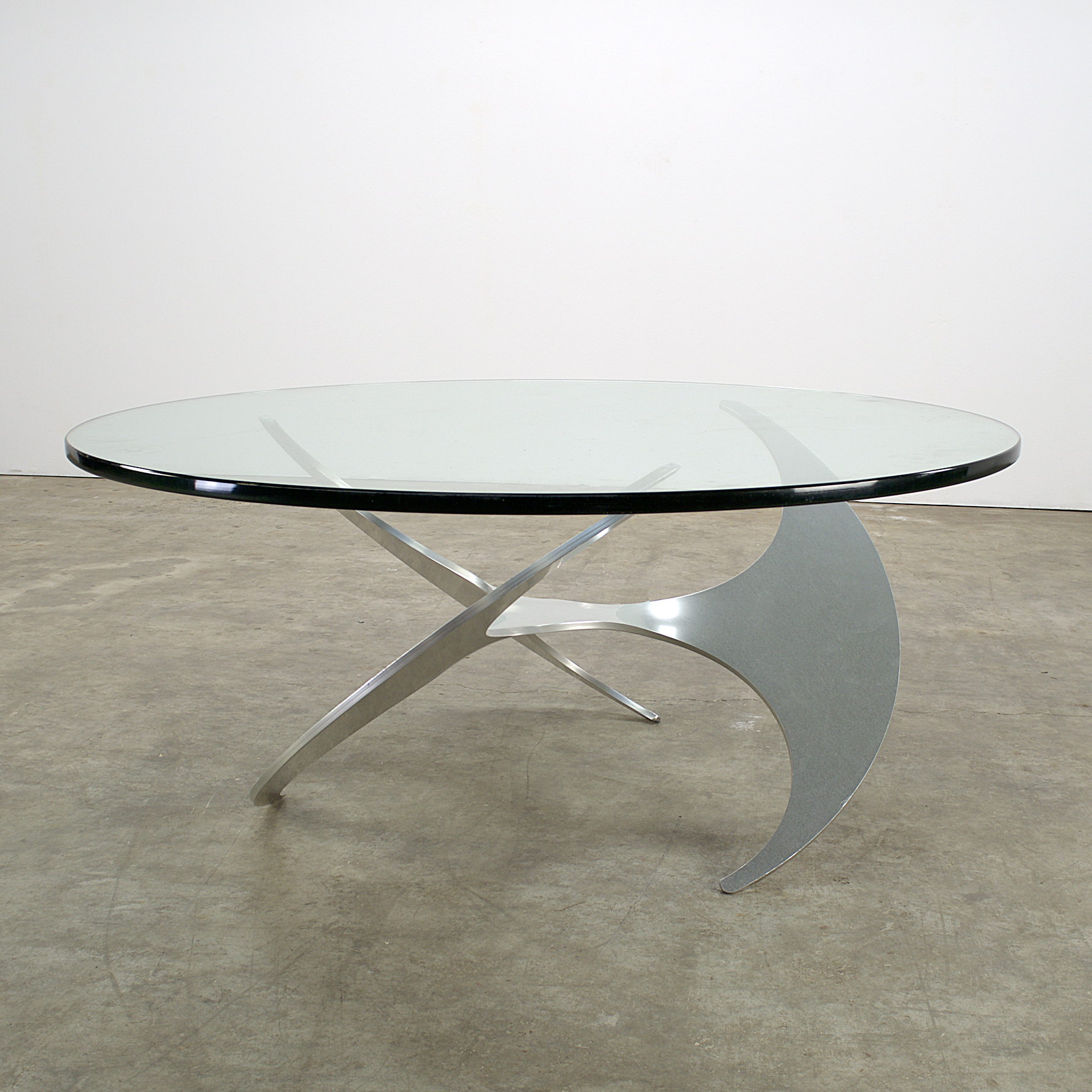 70 s coffee table propeller by knut hesterberg for for Ronald schmitt