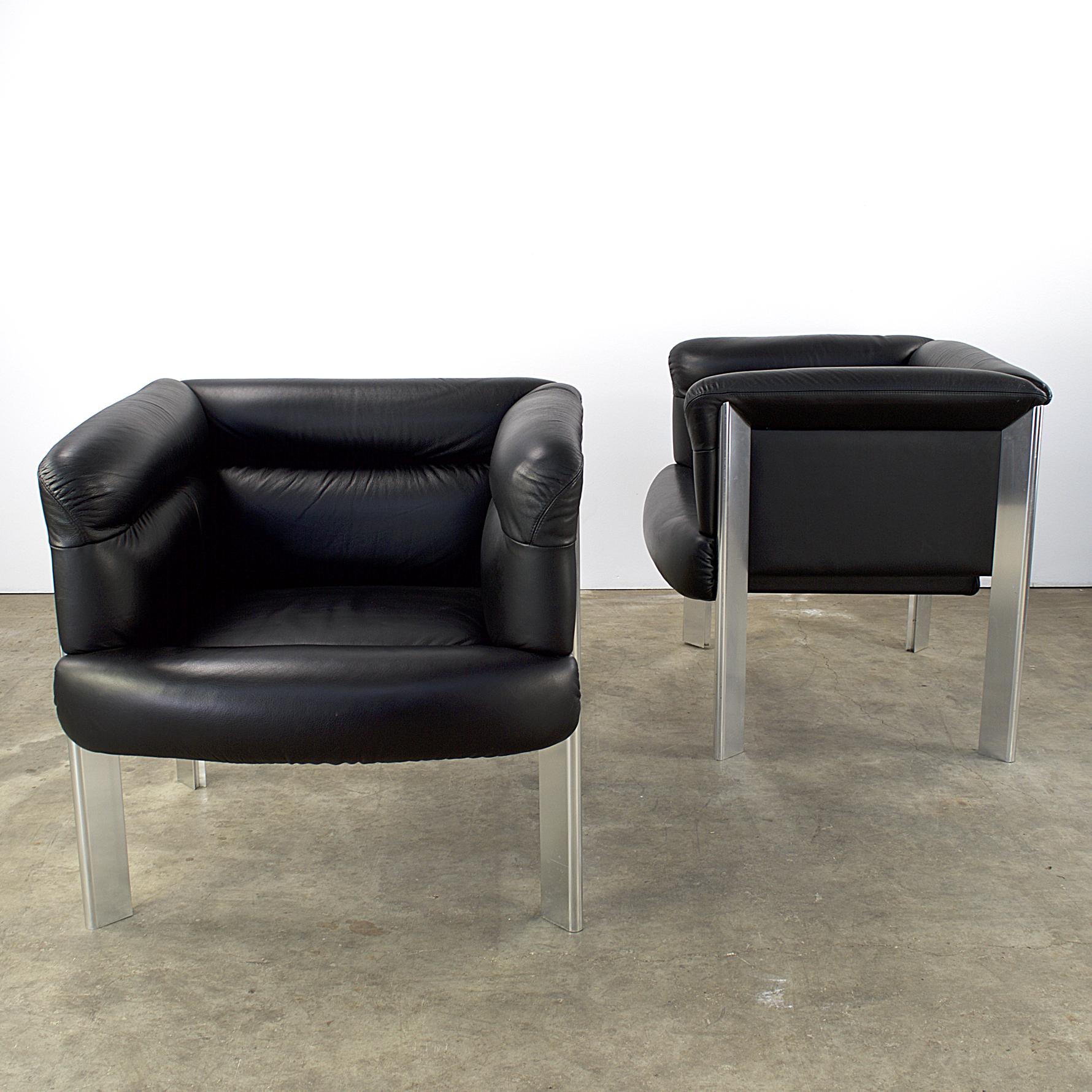 80\'s Poltrona Frau fauteuils model \'Interlude\' by Marco Zanuso ...
