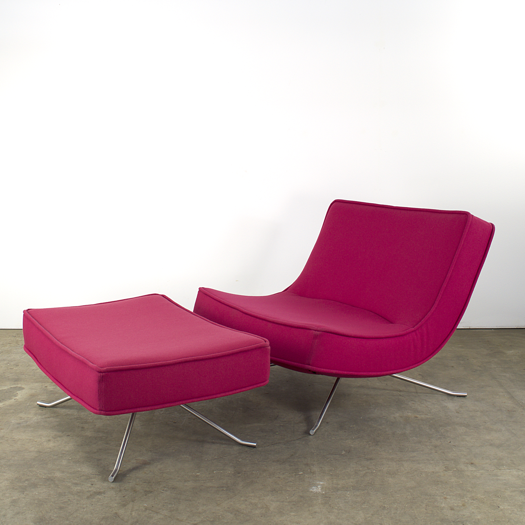 Ligne roset pop easy lounge chair hocker by christian for Lounge chair kopie