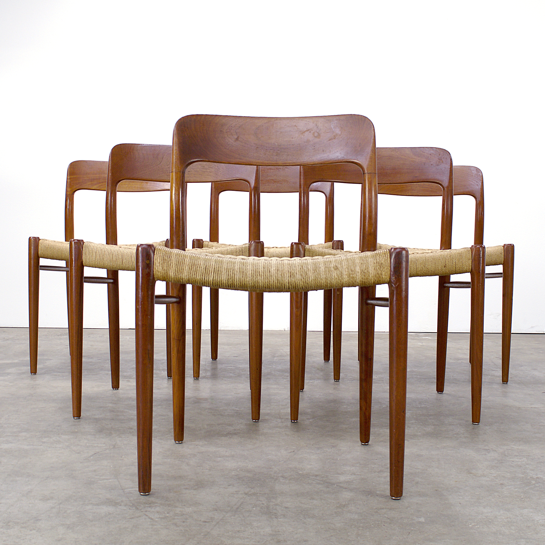 """Vintage Moller Dining Chairs ~ S niels o møller """"model dining chairs for j l"""