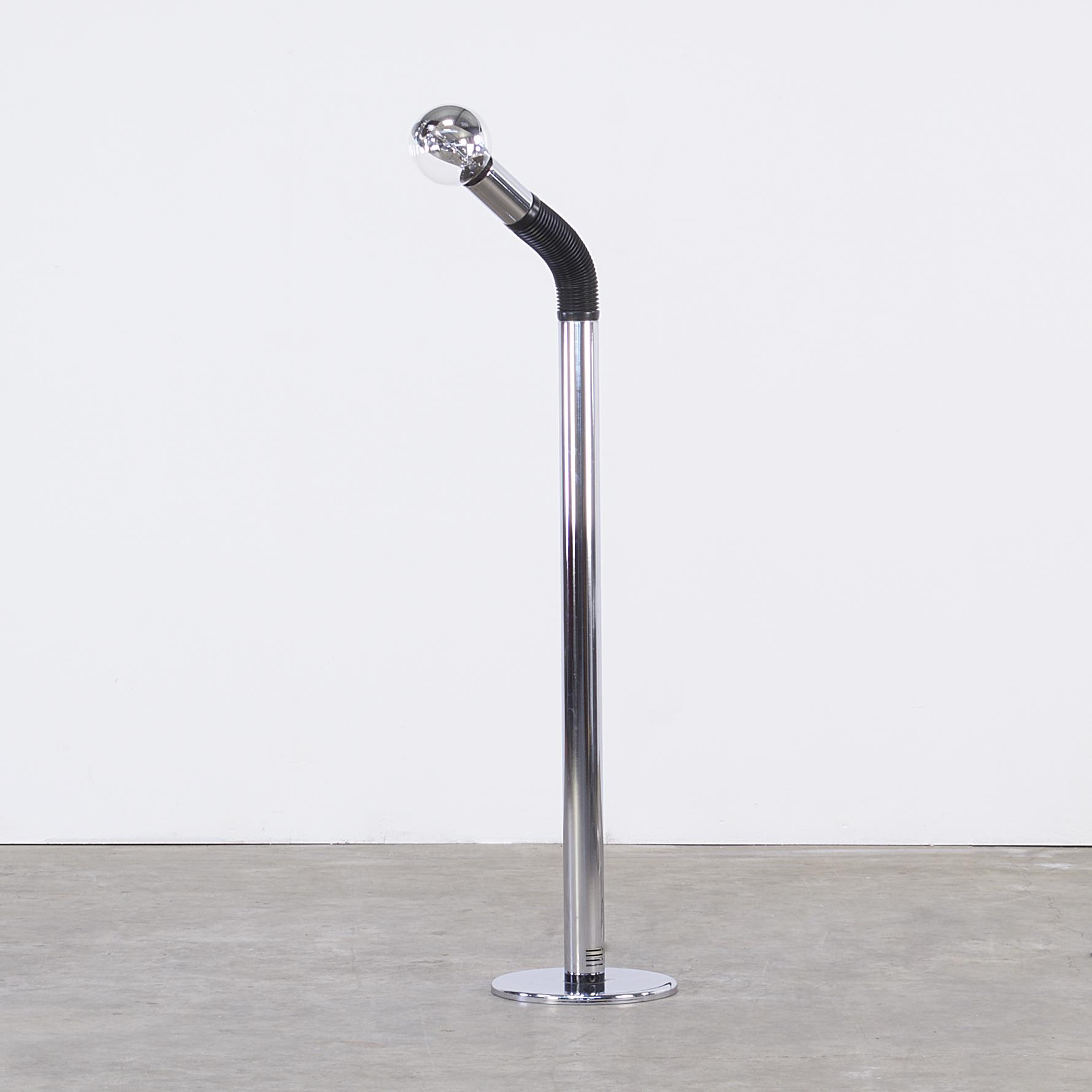 70s Italian design bendable floorlamp 'bendy' for Targetti ...