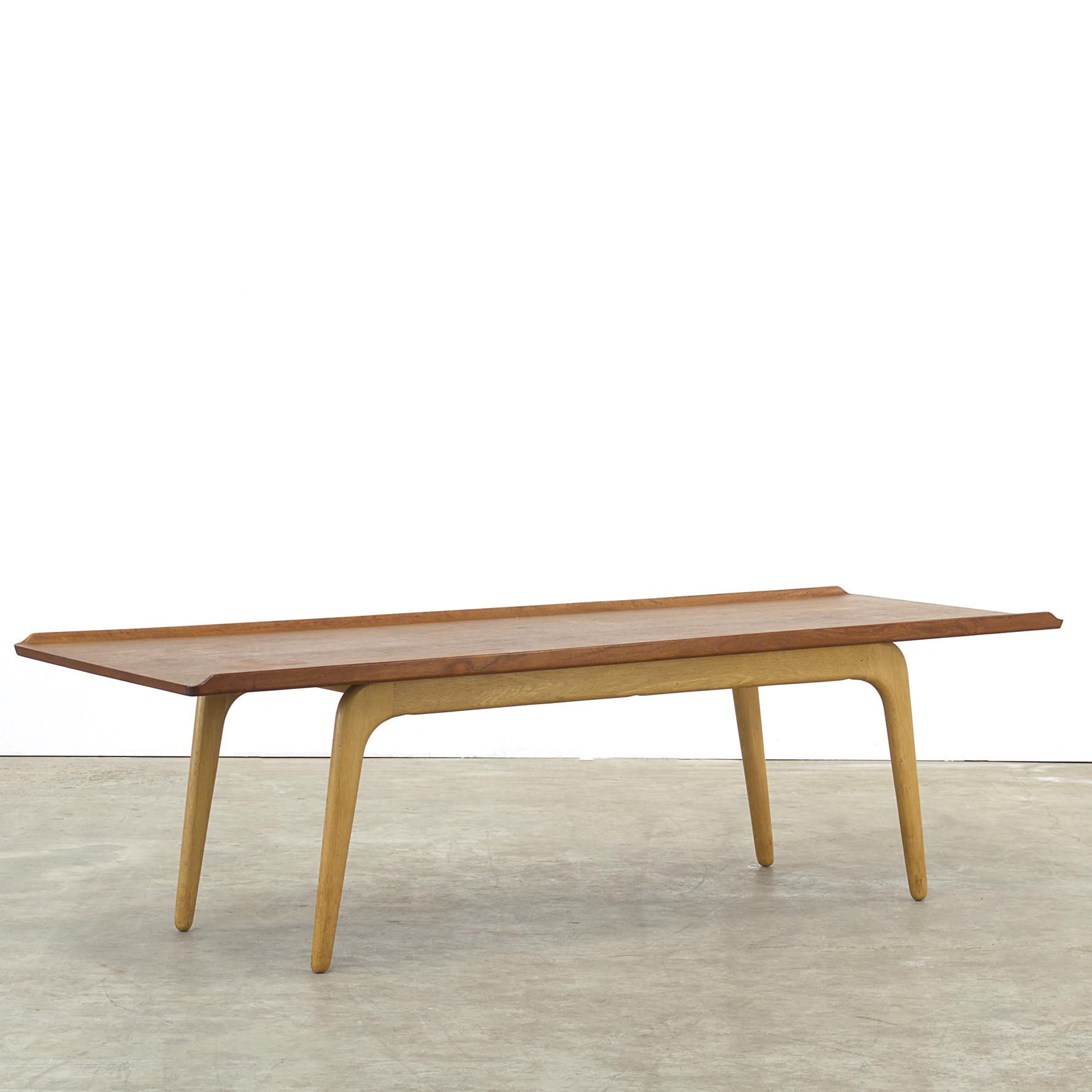 60s Aksel Bender Madsen Coffee Table Teak And Oak For Bovenkamp Barbmama