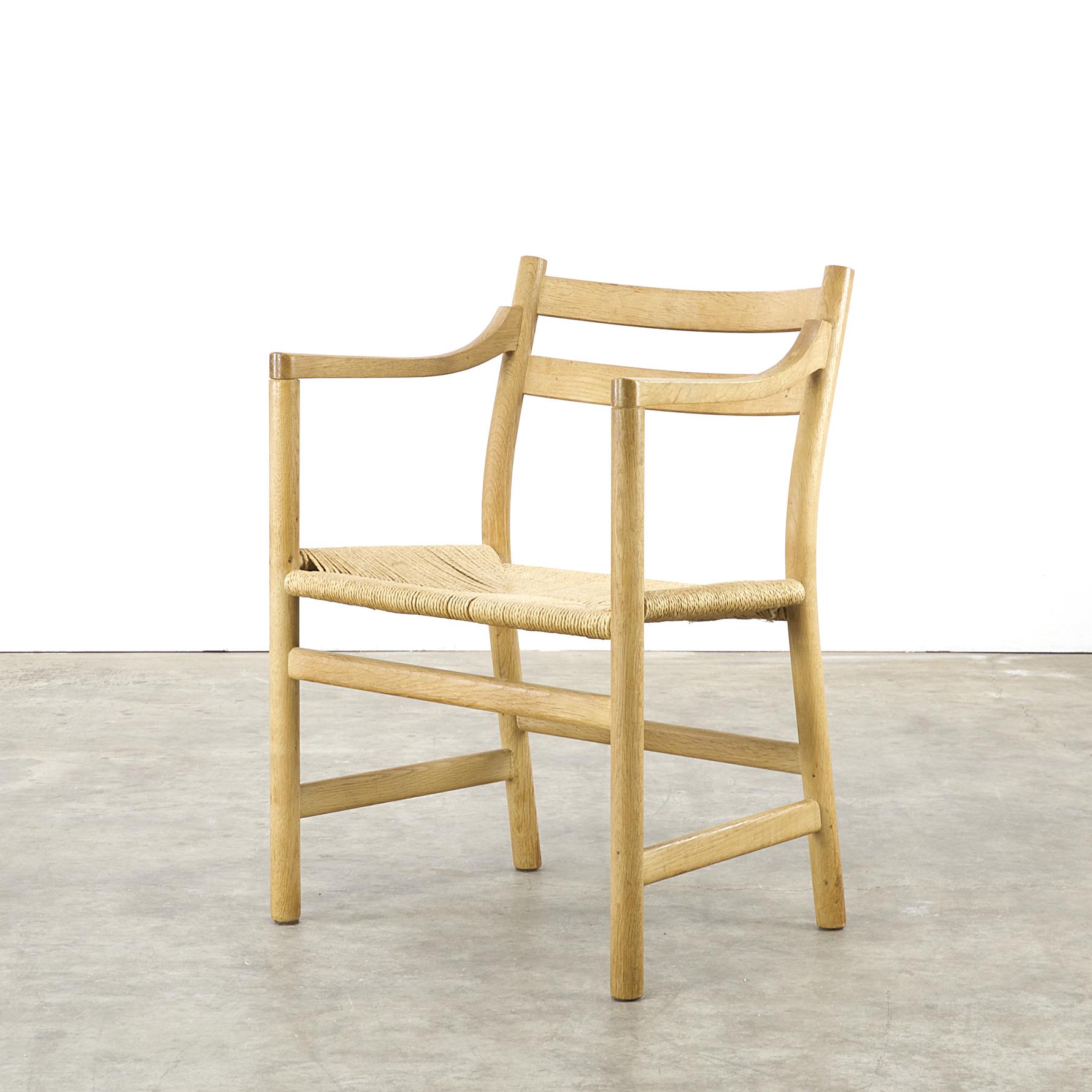 50s hans j wegner ch46 dining chair for carl hansen son set 4 barbmama. Black Bedroom Furniture Sets. Home Design Ideas