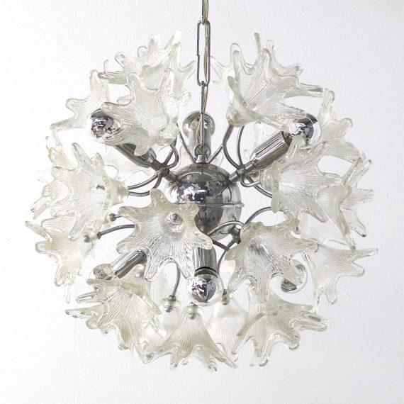 Hanging Lamp Nl: 60s Paolo Venine 'Sputnik' Flower Hanging Lamp For VeArt