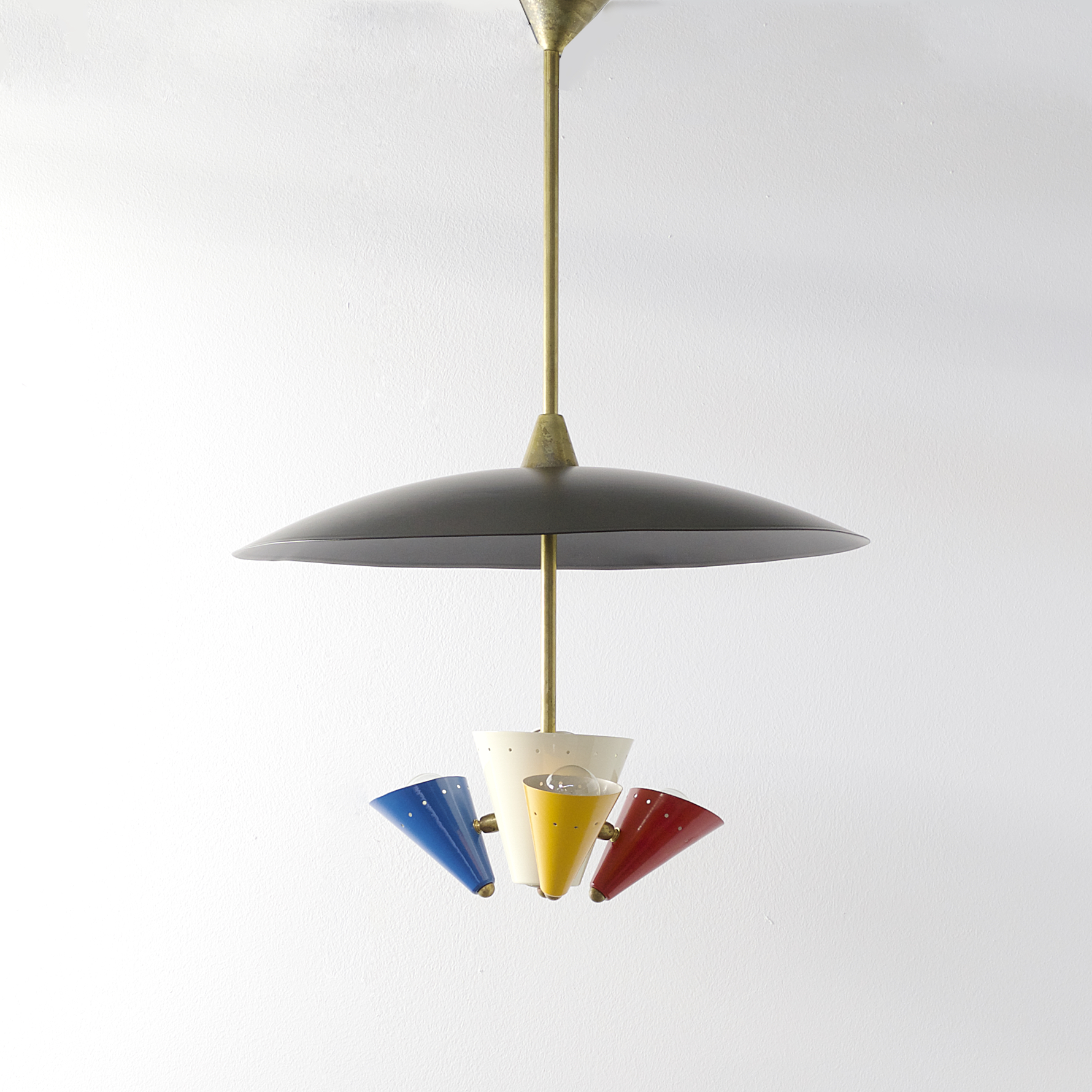 Hanging Lamp Nl: 50s Ceiling Hanging Lamp By Stilnovo Italy