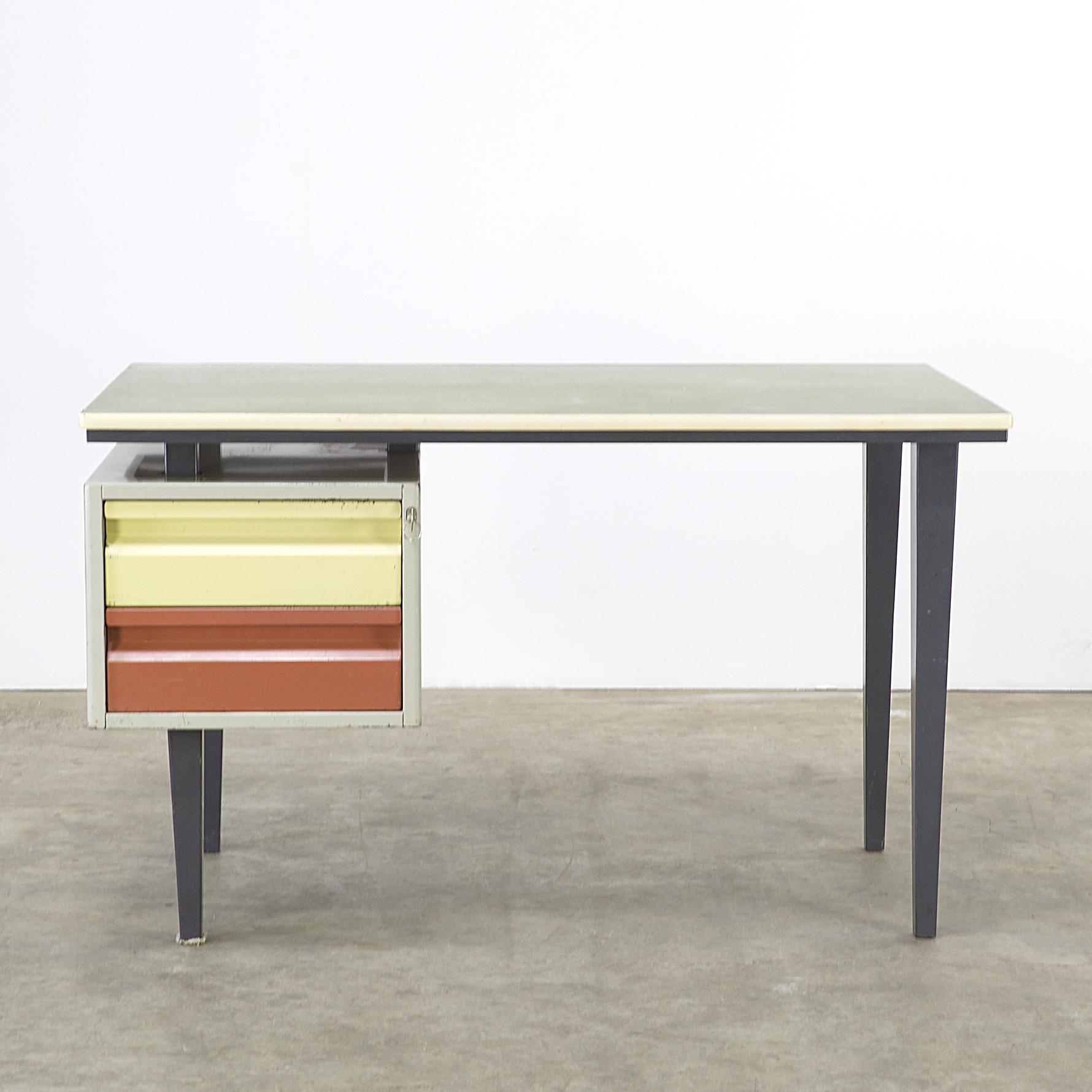 50s Andr 233 Cordemeyer Metal Writing Desk For Gispen Barbmama