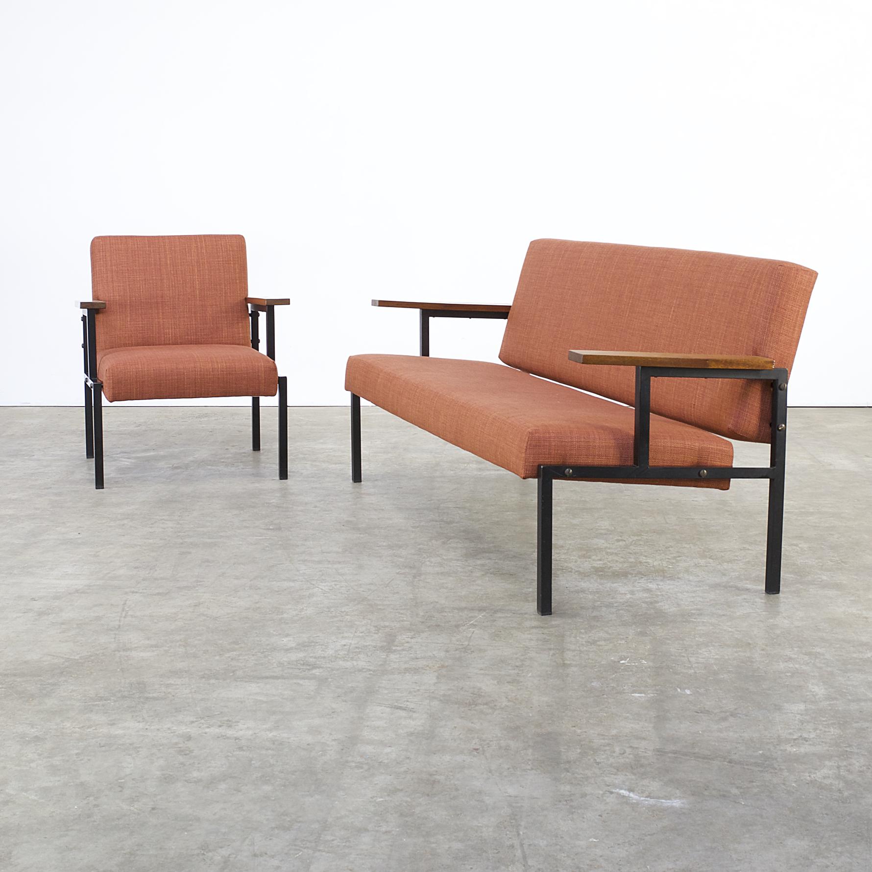 60s seating group 1 sofa 1 fauteuil attr gijs van der sluis barbmama. Black Bedroom Furniture Sets. Home Design Ideas