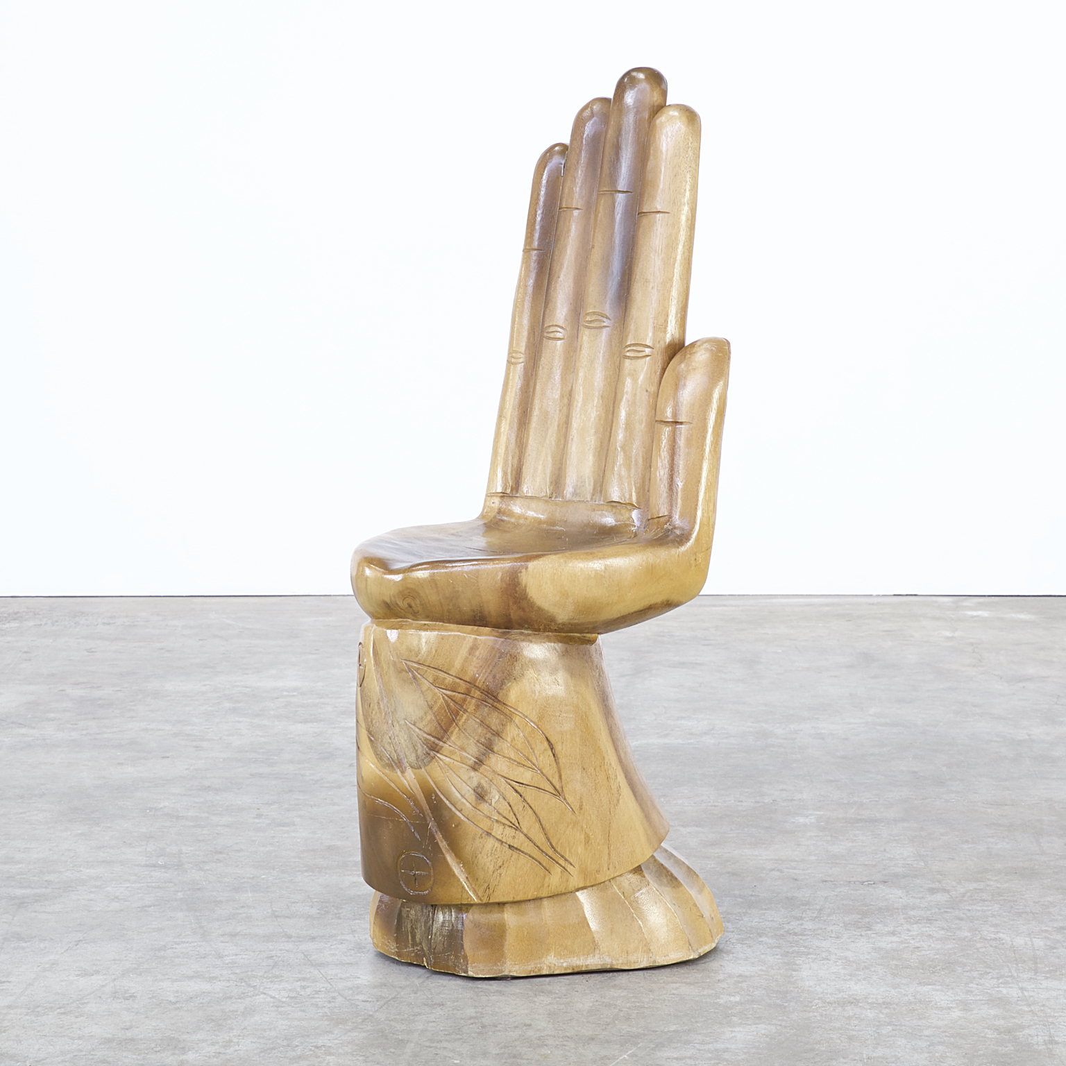 Carved Mahogany Hand Chair Attr Friedeberg Barbmama