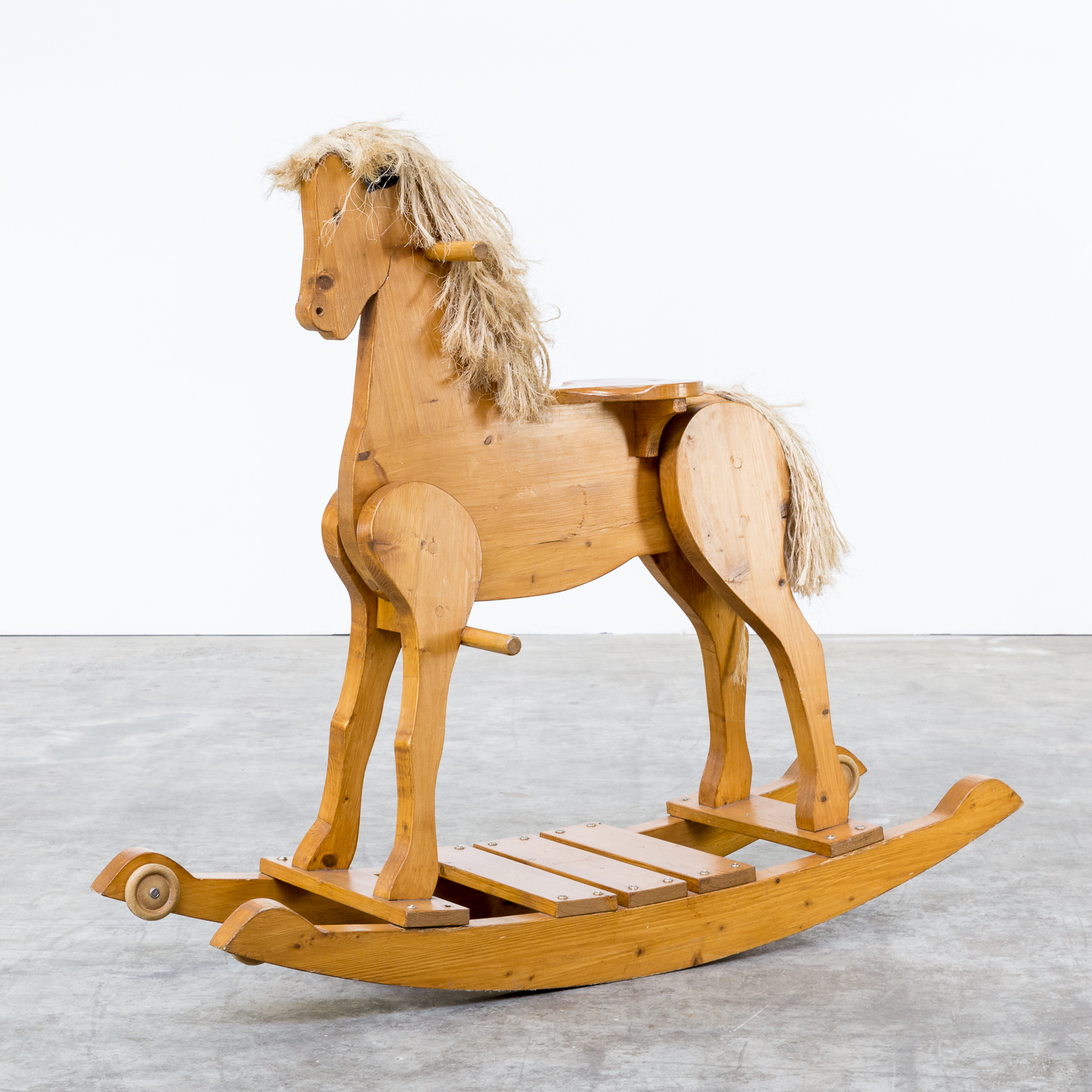 Wooden Rocking Horse ~ S pine wood rocking horse barbmama