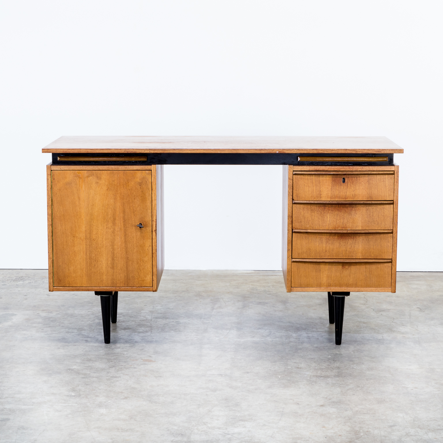 60s cees braakman teak writing desk for pastoe barbmama - Bureau design vintage ...