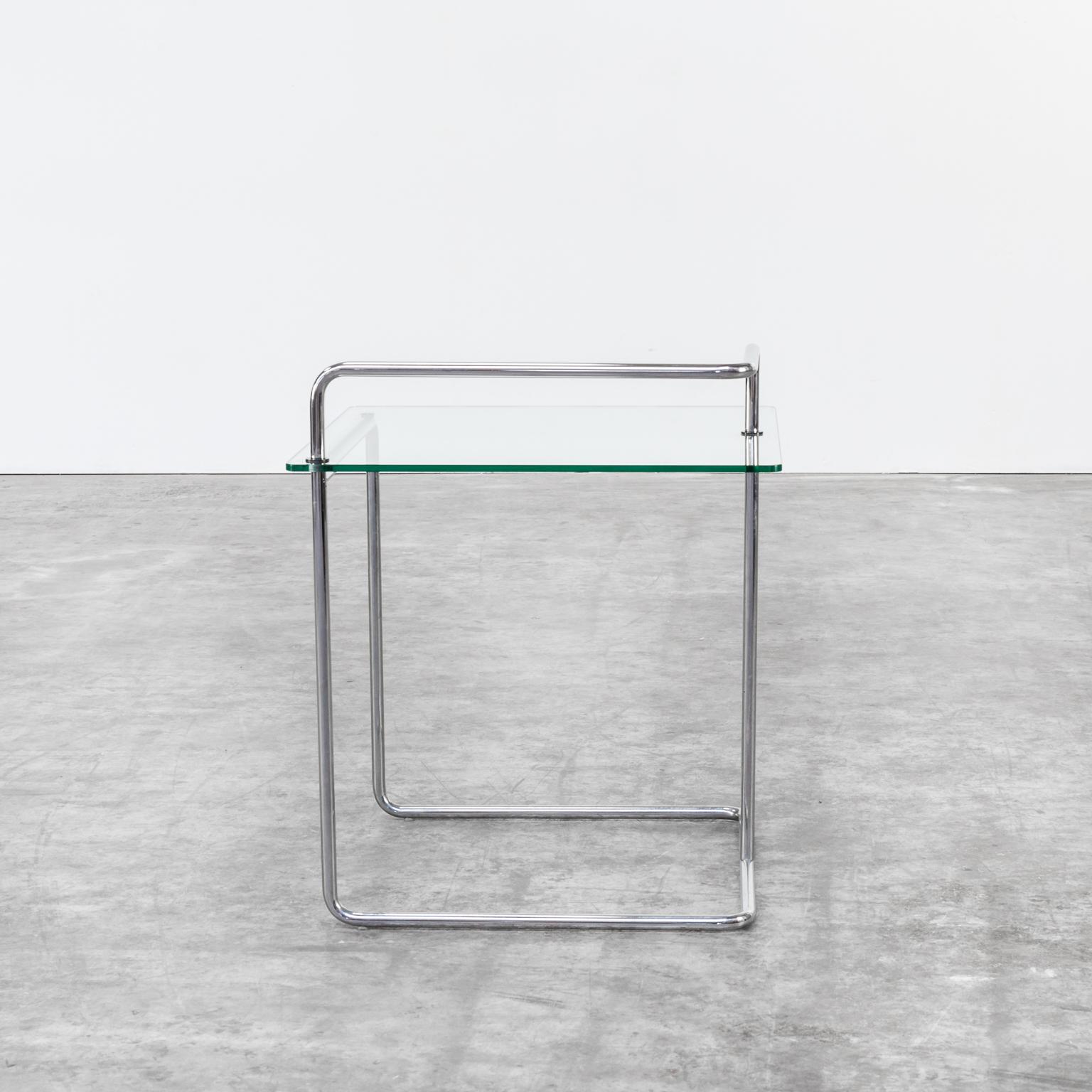 1222037TB Glass Chrome Side Table Vintage Retro Design Barbmama
