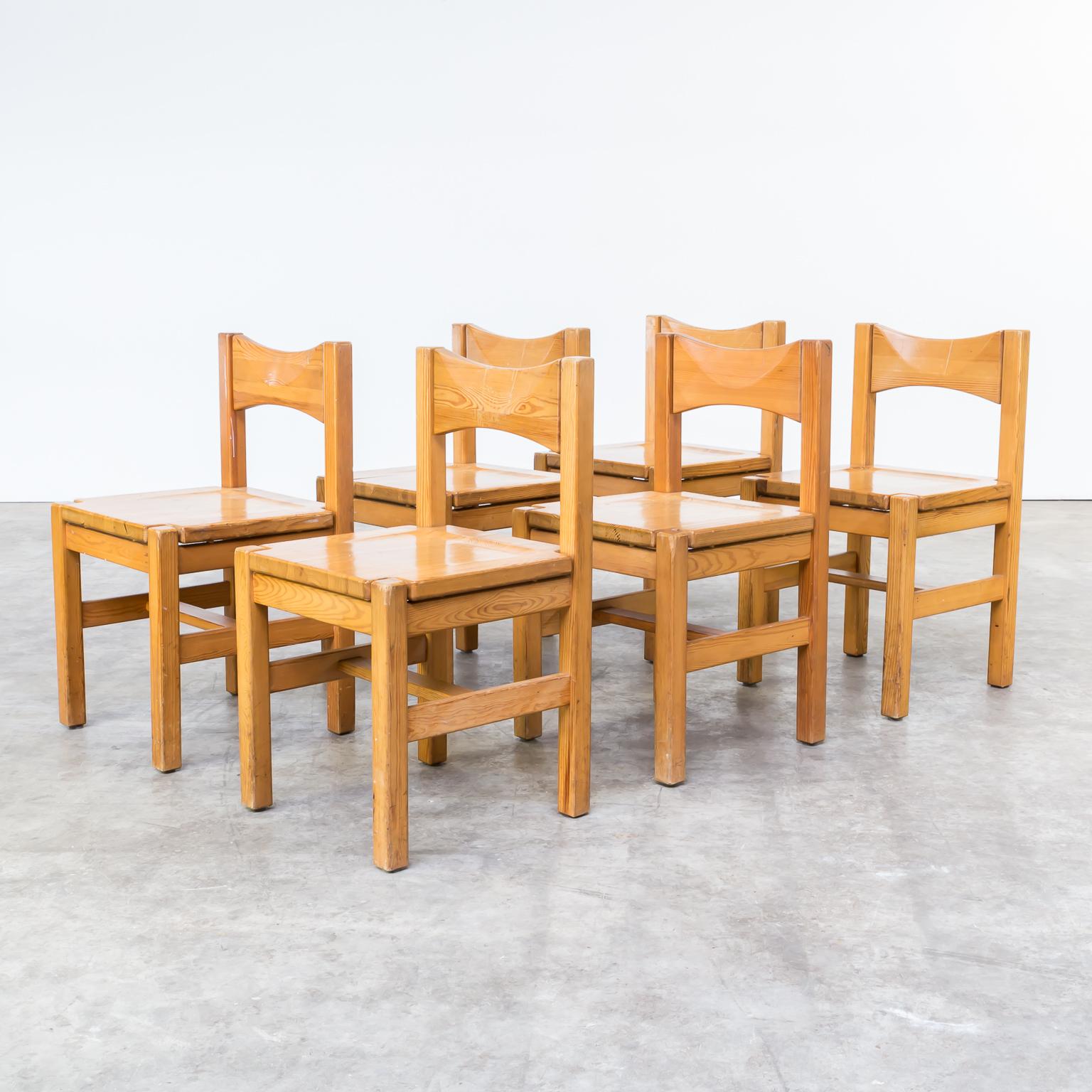 0512047ZST Ilmari Tapiovaara Laukaan Puu Pine Dining Chair Stoel Vintage