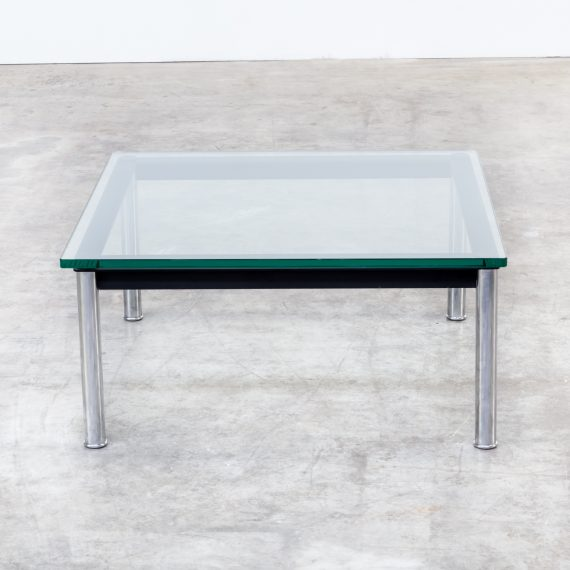 80s Le Corbusier Lc10p No 3965 Coffee Table Glass For