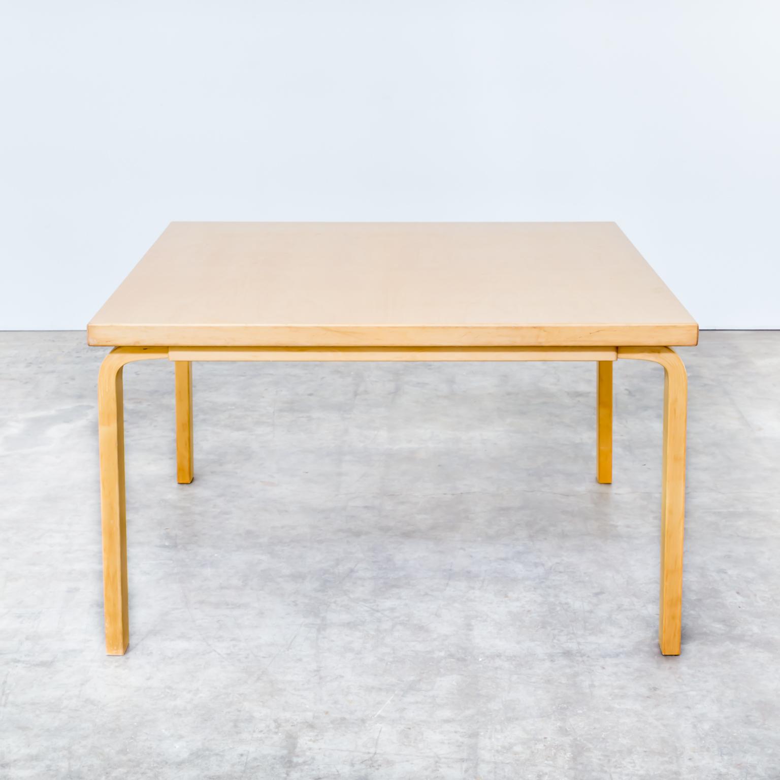 1005047TE Aalvar Aalto Artek Birch Dining Table Eettafel Vintage